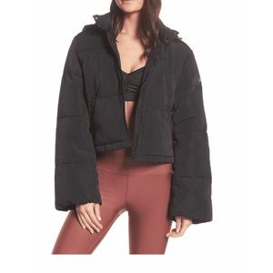 NWT Alo Introspective Black Quilted Jacket, Sz Med